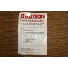 English caution label